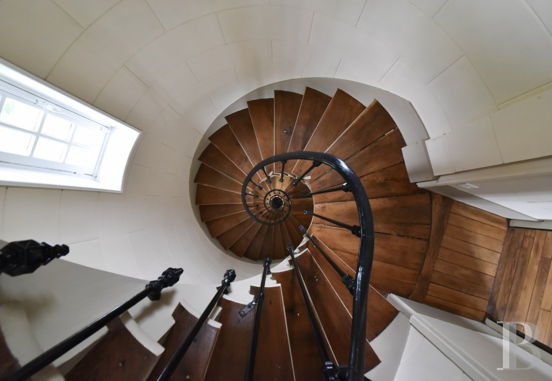 The spiral staircase inside Anne Boleyn's Tower at Briis-sous-Forges