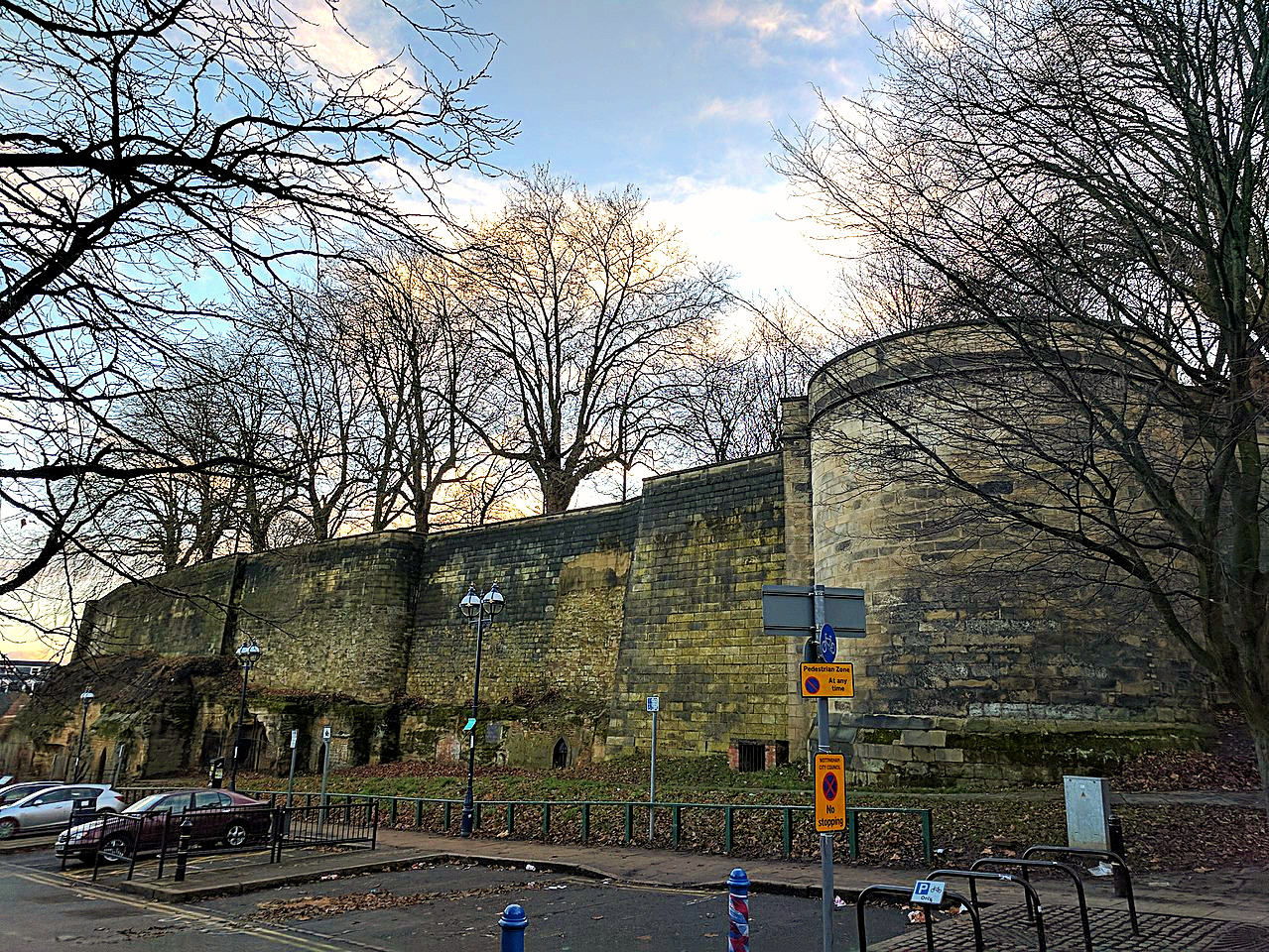 Nottingham Castle Outer Bailey Wall And Towers