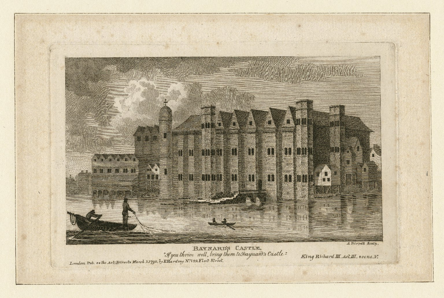 Baynard's Castle was close to The Bishop of London's Palace