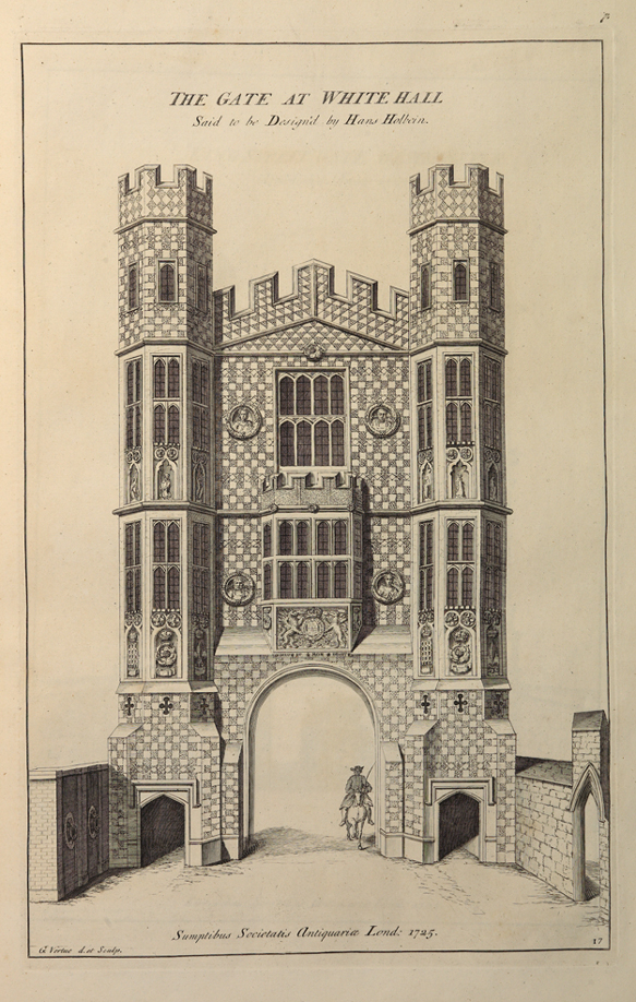 Drawing of the Holbein Gate