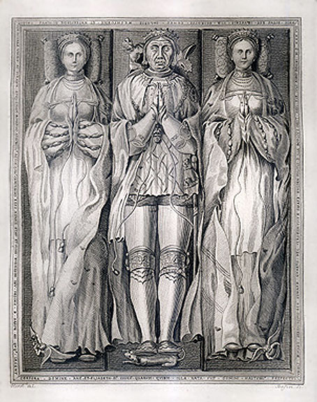The 4th Earl of Shrewsbury and his two wives.