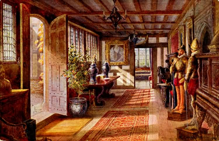 The entrance hall at Hever Castle