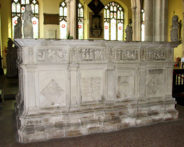 The stone tomb of Henry Fitzroy and Mary Howard