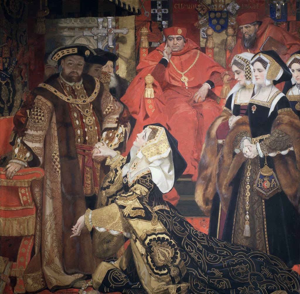 Henry VIII and Catherine of Aragon before Papal Legates at Blackfriars,1529.jpg