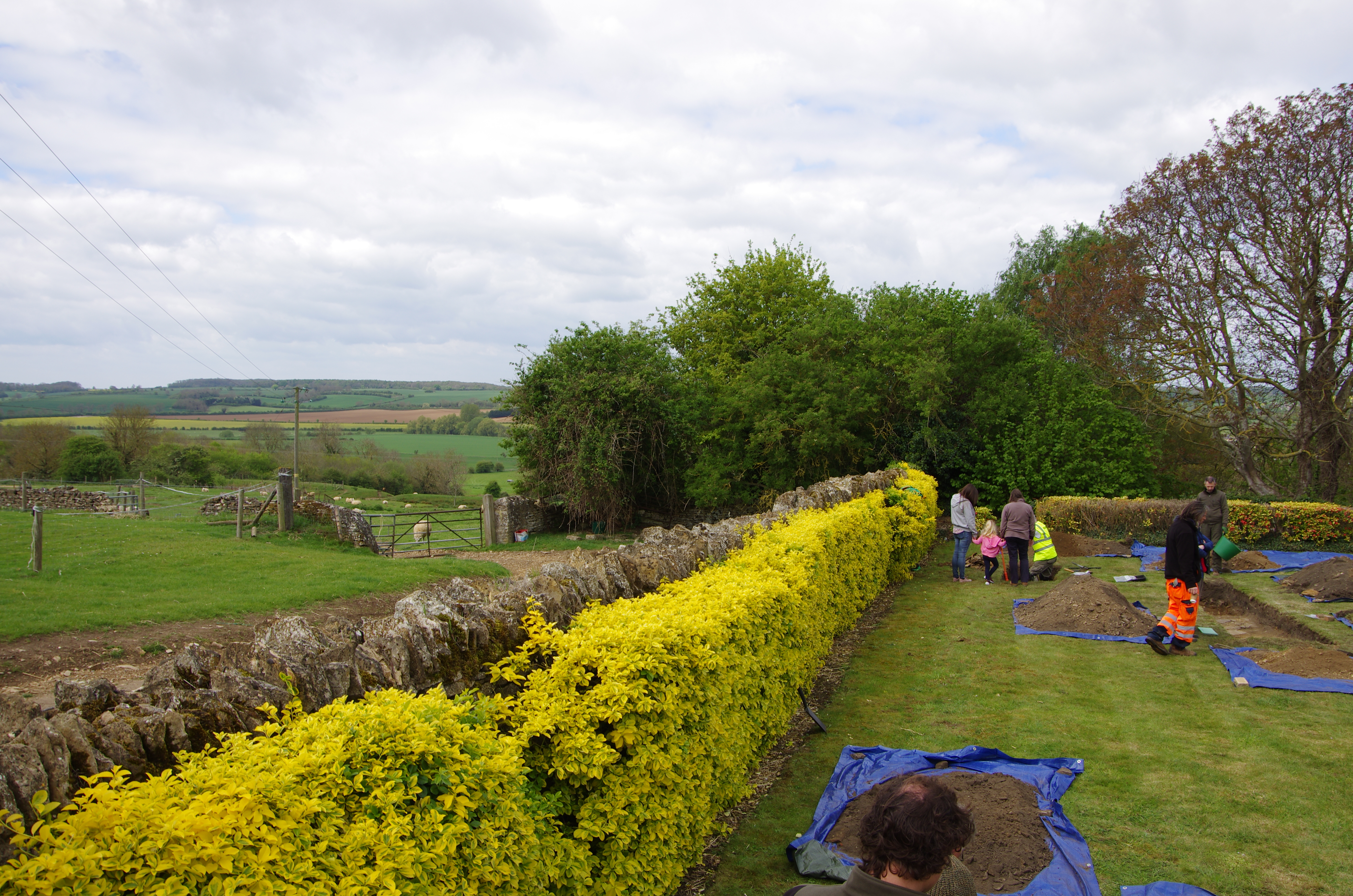 The dig site; searching for the lost palace of Collyweston.