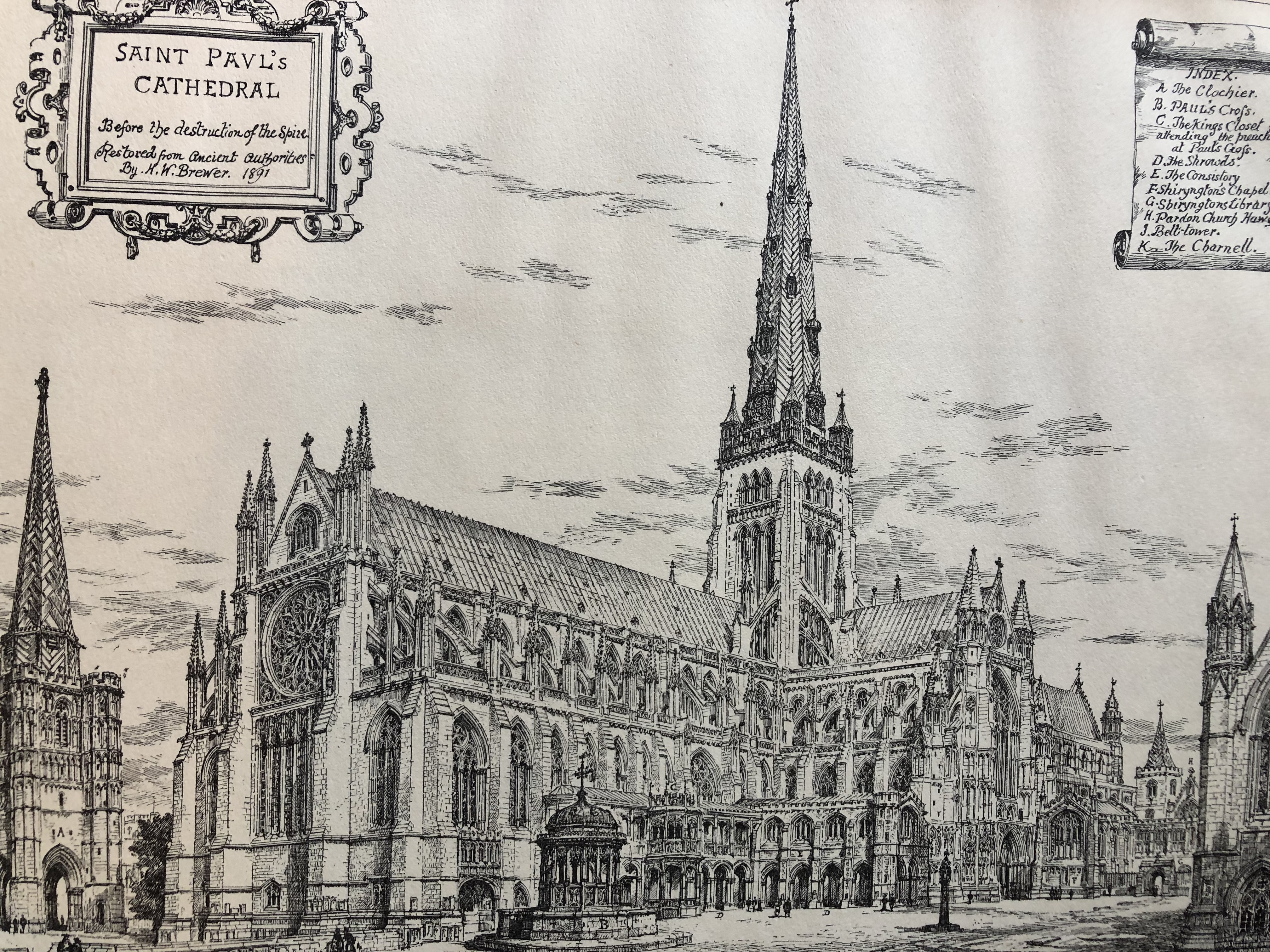 Old St Paul's from the north-west