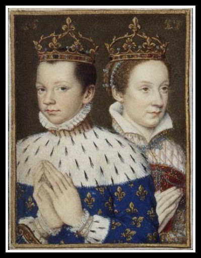 Dual portrait of King Francis and Queen Mary of France.
