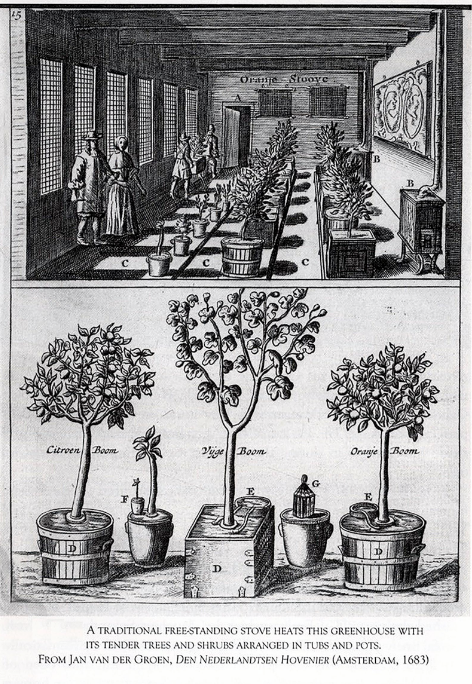 An orangery from the 17th century