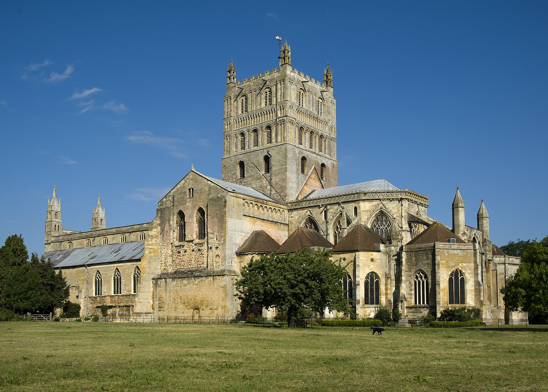 Tewkesbury Abbey, where Mary lodged on her way to Ludlow Castle