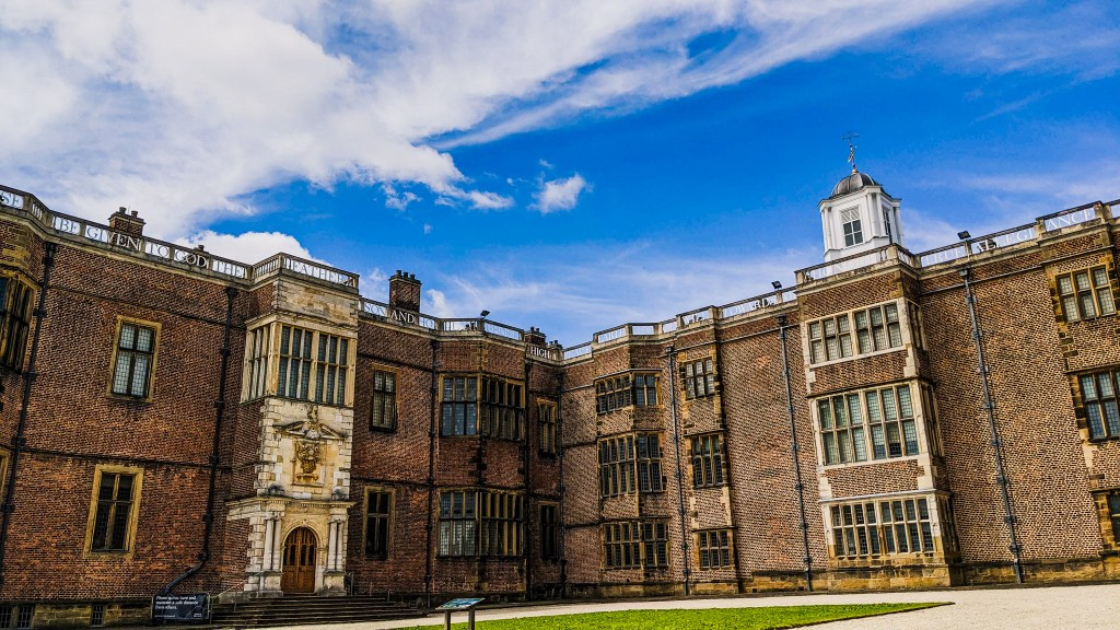 View of Temple Newsam from the courtyard