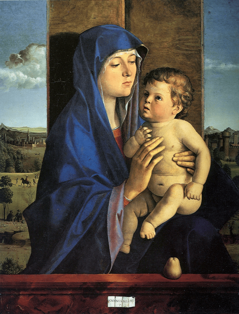 A picture of Madonnna and child