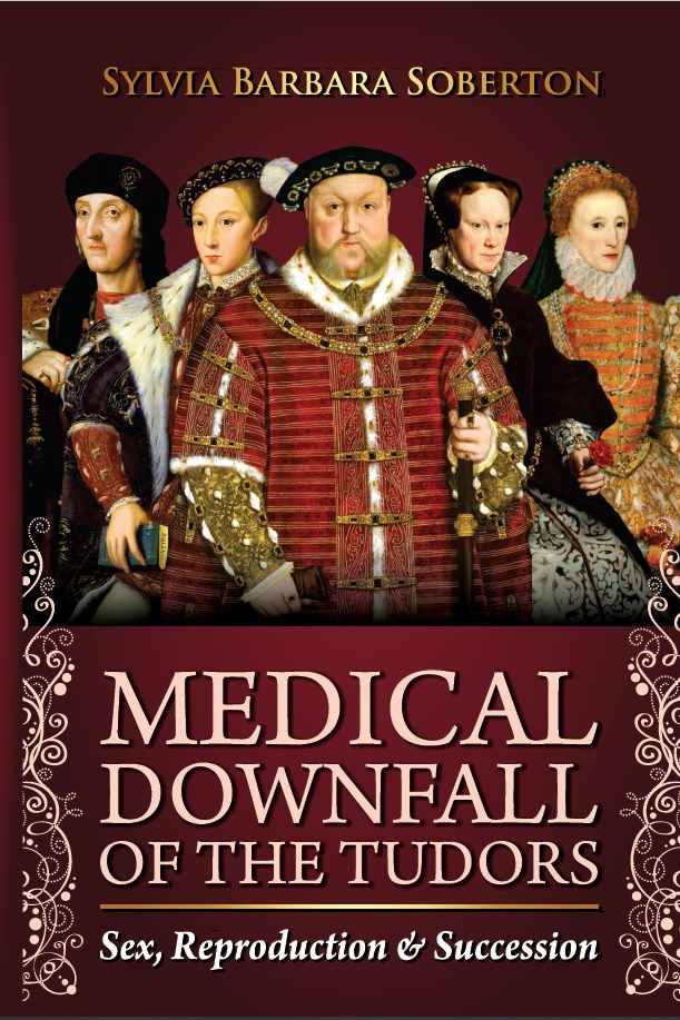 Book cover showing Henry VIII and other Tudor monarchs