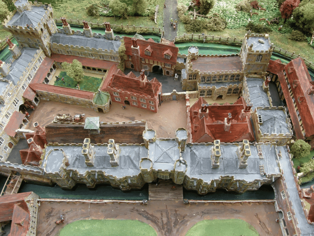 A reconstruction / model of the inner courtyard at Orford Palace