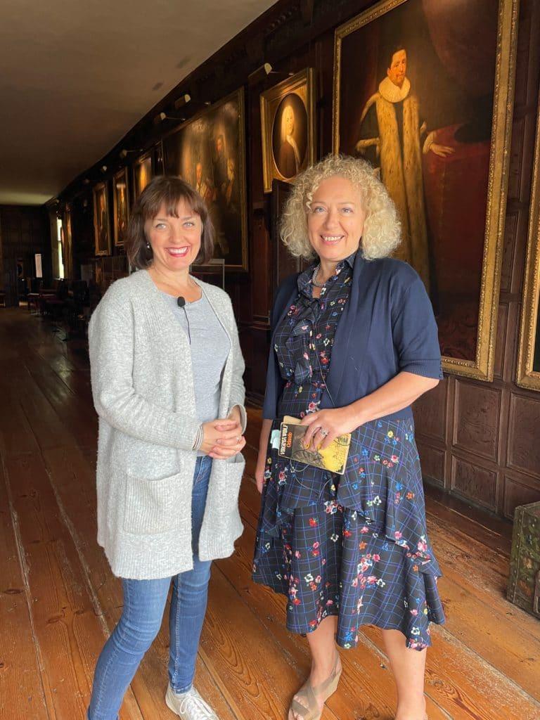 Sarah Gristwood and Sarah Morris at Knole House