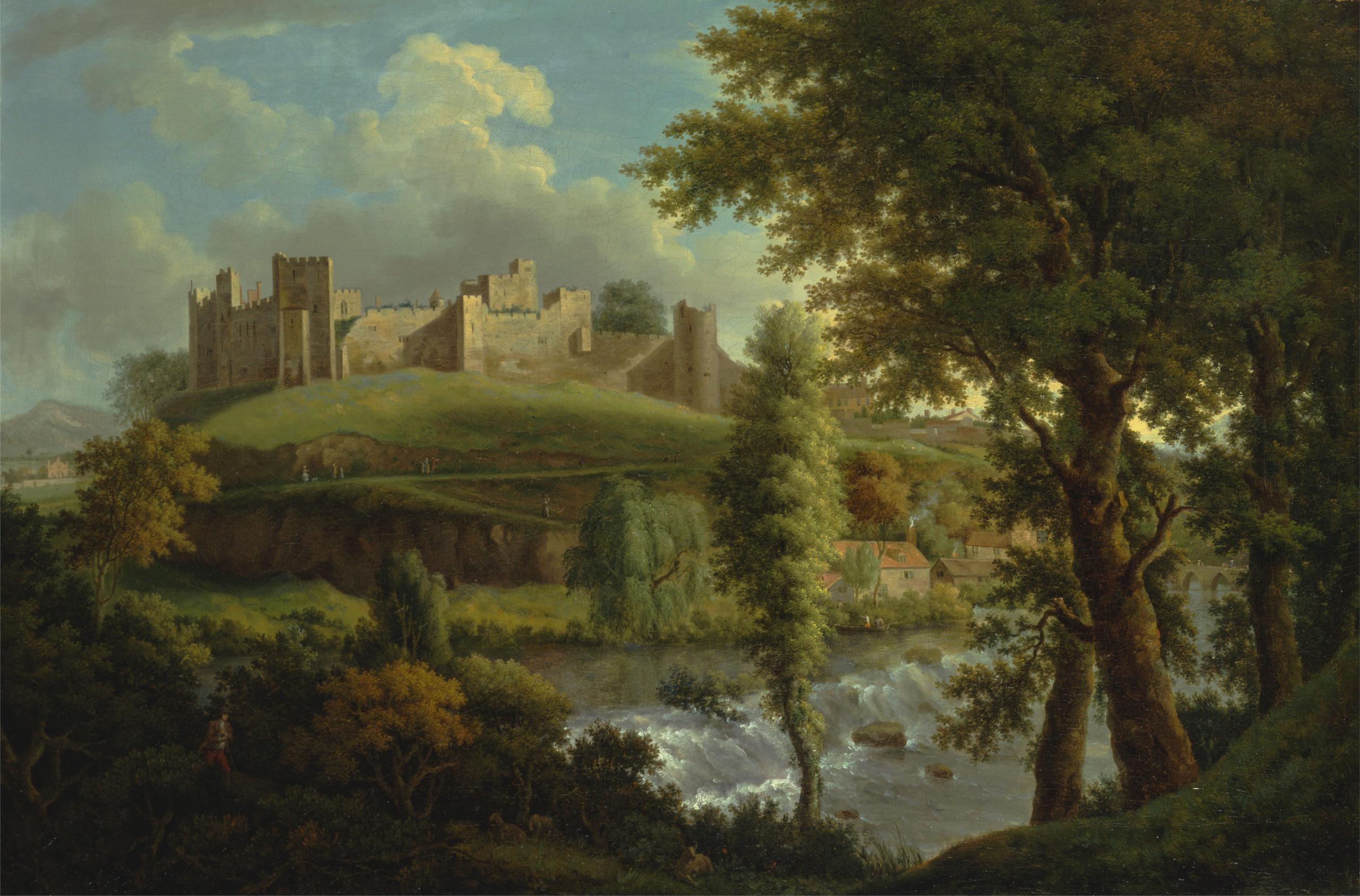 Ludlow Castle with Dinham Weir