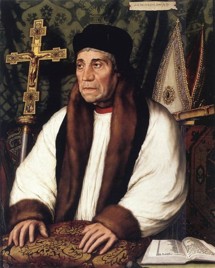 Portrait of William Warham, Archbishop of Canterbury in the early sixteenth century