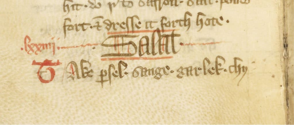 Recipe for a Salad in Tudor England and Europe, from 'Forme of Cury', 1393